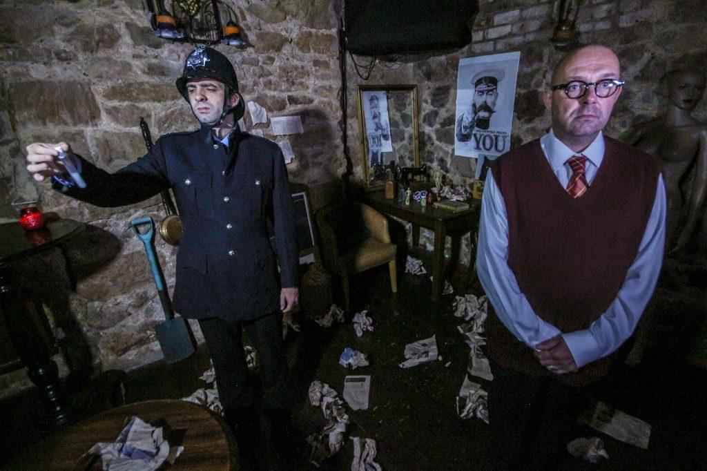 Howard Brenton's Christie In Love - Substance and shadow theatre - photo by Benjamin Akira Tallamy